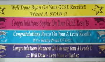 Personalised A Level Results Banner